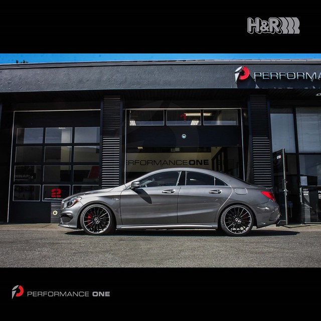 Mercedes-Benz CLA45 AMG lowered w/ H&R Sport Springs