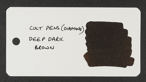Cult Pens (Diamine) Deep Dark Brown - Word Card | by Terry Finney