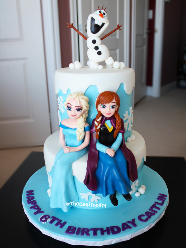 Frozen Elsa And Anna Cake Olaf Figurine Tutorial Www