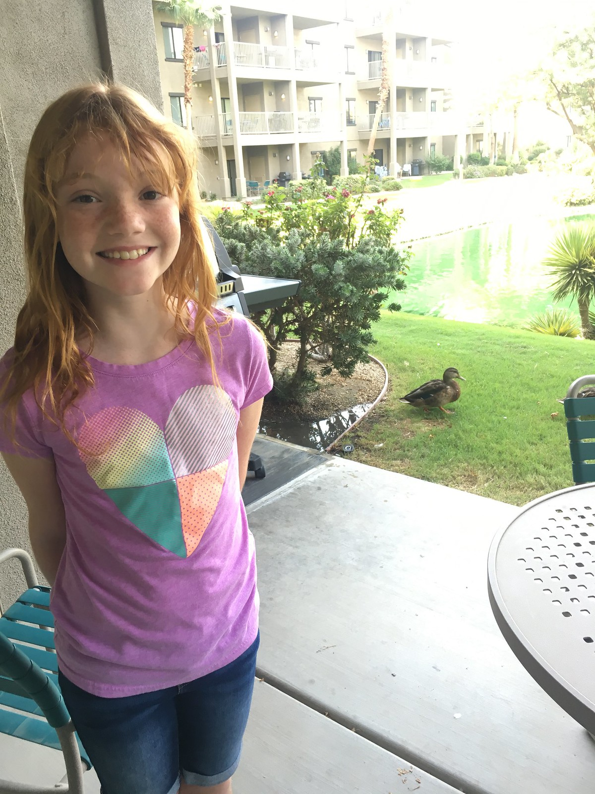 A girl and ducks