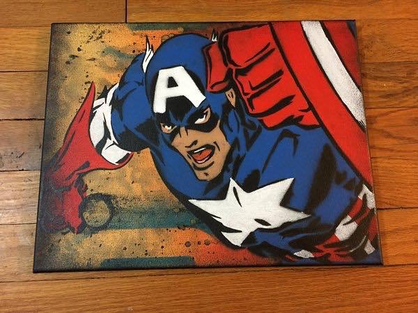 Captain America canvas by Chris Cleveland Studios