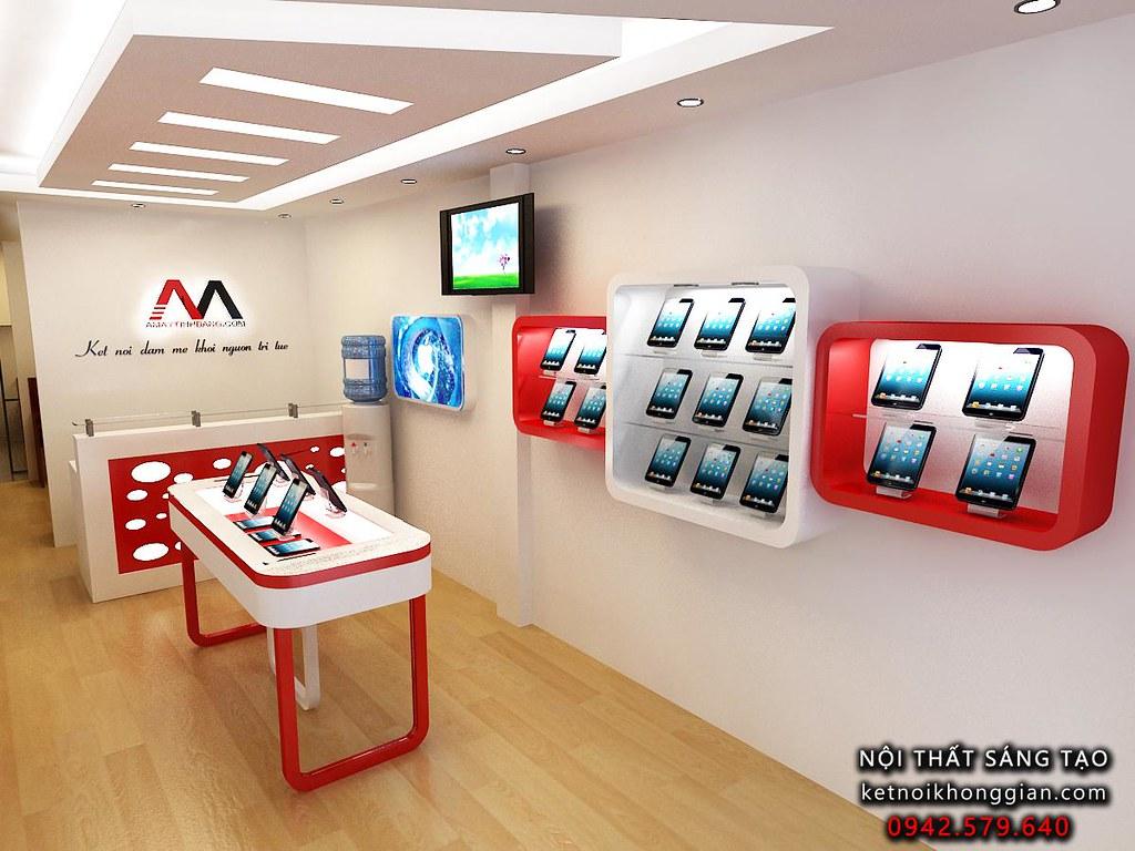 thiết kế cửa hàng công nghệ chuyên nghiệp