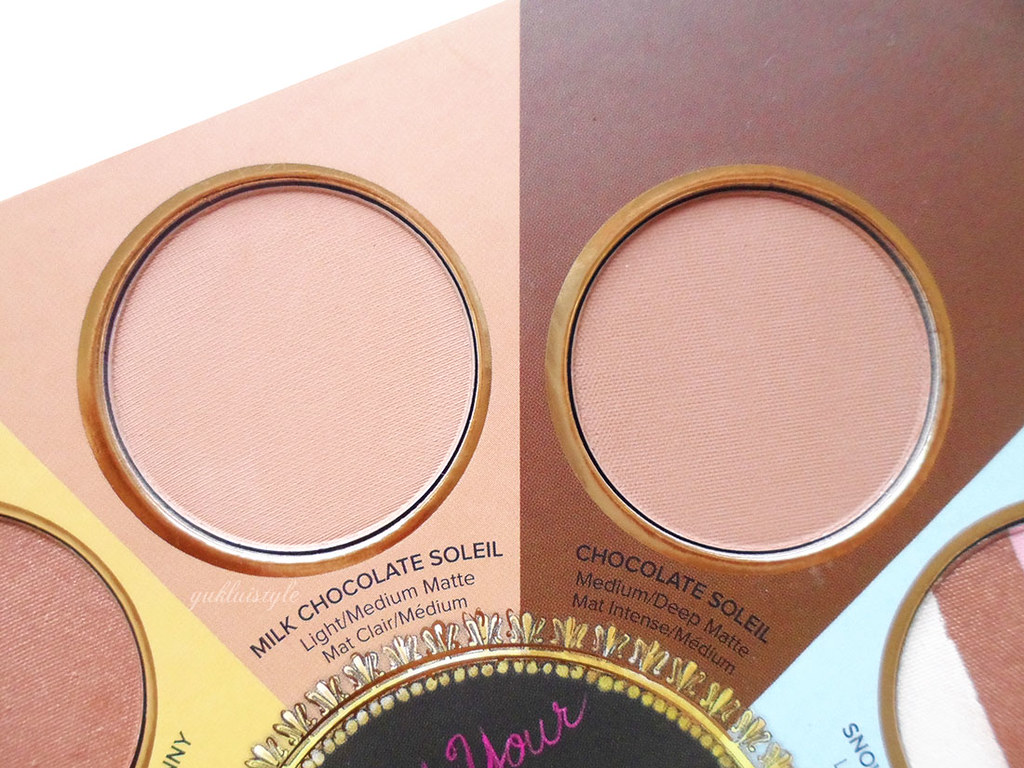 Too Faced The Little Black Book of Bronzers review milk chocolate soleil
