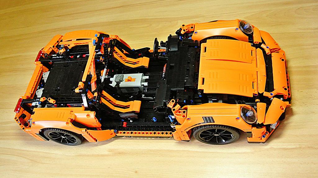 how to motorize lego technic 42056 porsche 911 gt3 rs sbr. Black Bedroom Furniture Sets. Home Design Ideas