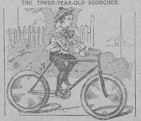 The Journal page on cycling 1896 - detail, child's bike