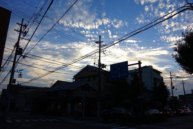 2016/09 修学院駅前辺り