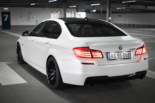 Bmw 535i M Sport White Satin Pearl Car Wrapped With
