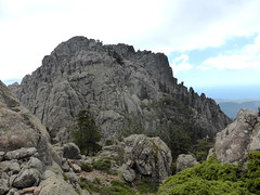 Face et sommet W de Punta Buvona depuis la crête Buvona - Samulaghja