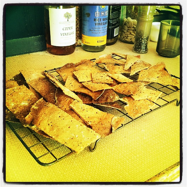 Rye crackers using #sourdough discard , dill seeds (our own ...