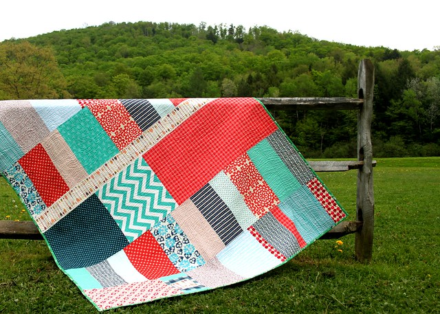 Natalie's Wild & Free Quilt -- Love this quilt back!