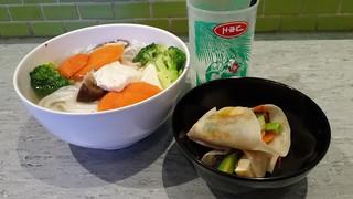 Vegan Pho, Coconut Juice, Vegan Peking Pancakes at Miss Chu's