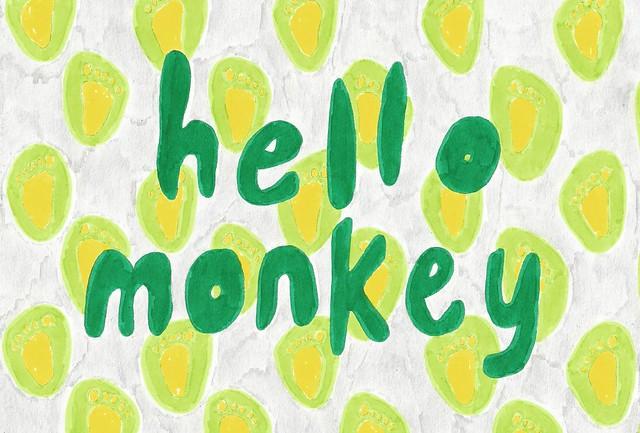 Hello Monkey Green