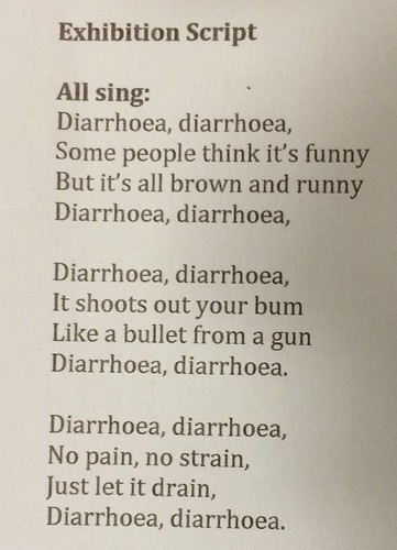 Rosie's diarrhoea song!