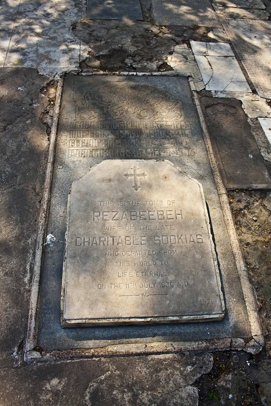 Rezabeebeh Grave - Armenian Church of the Holy Nazareth - Kolkata, India