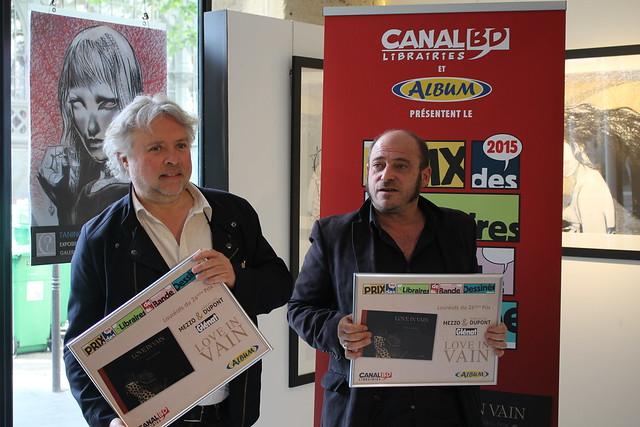 Jean-Michel Dupont et Mezzo, 26e Prix des Libraires BD pour Love in Vain - Galerie Glénat