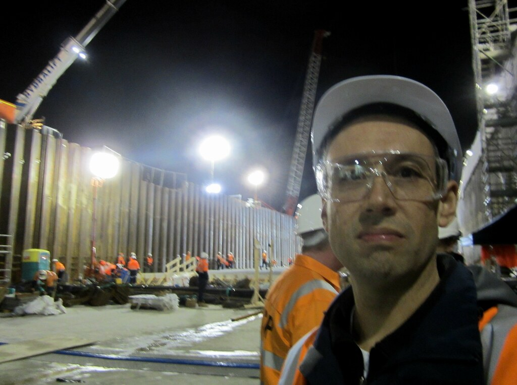 Me at Bentleigh station under construction - whatdayamean it's another month until the next train?