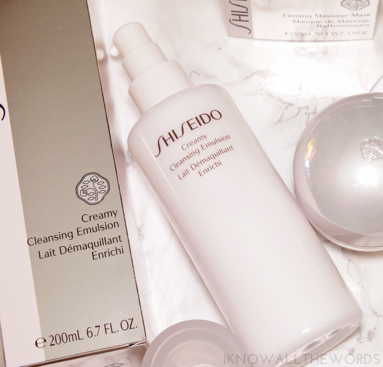 shiseido creamy cleansing emulsion and firming masage mask (2)