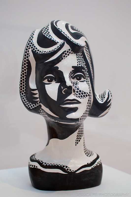 Black and White Head - Roy Lichtenstein