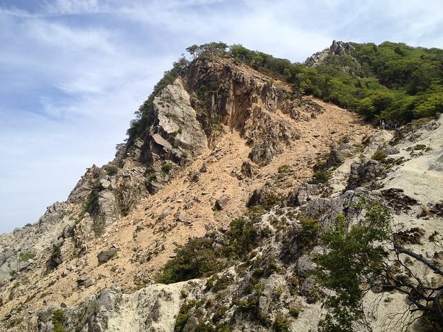 鎌ヶ岳 武平峠ルート 赤ガレ