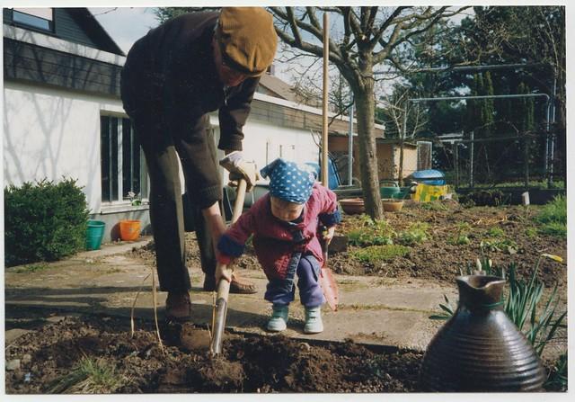 Gardening, ca. 1992