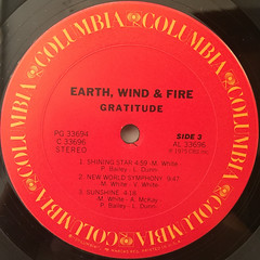EARTH,WIND & FIRE:GRATITUDE(LABEL SIDE-C)