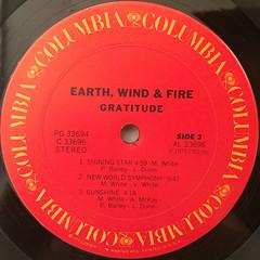 EARTH,WIND & FIRE:GRATITUDE(LABEL SIDE-C)