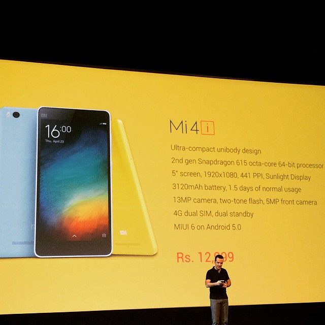 MiIndiaOfficial launches the Mi4i in India for only 12,9