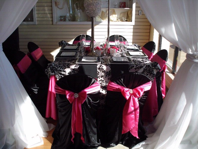 Black And Pink Wedding Decorations Via Wedding Ideas Site Flickr