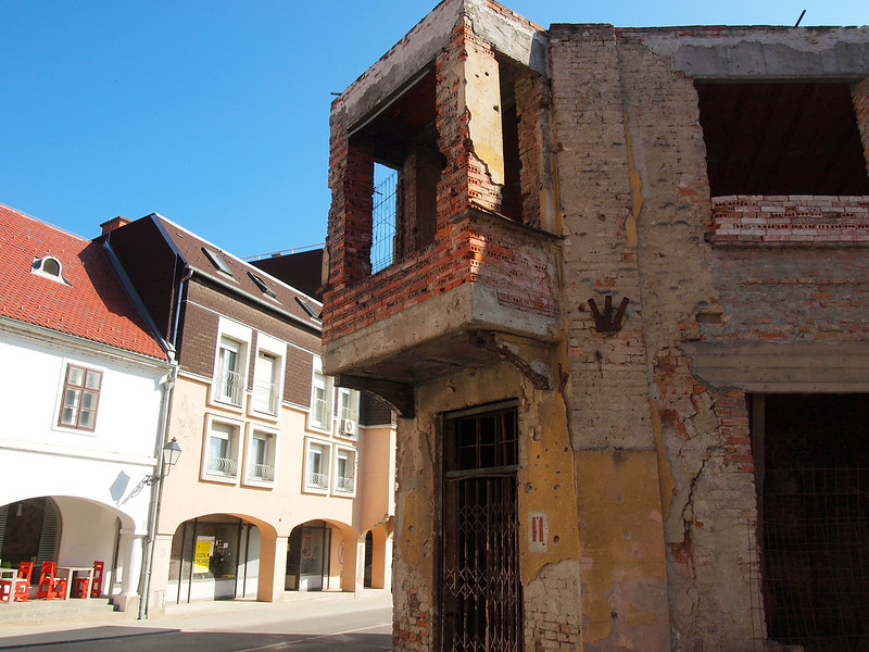 Abandoned building in Vukovar, Croatia