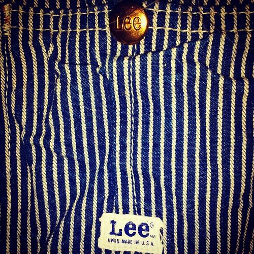 Vintage Lee detail #overalls #vintage #Lee #HickoryStripe