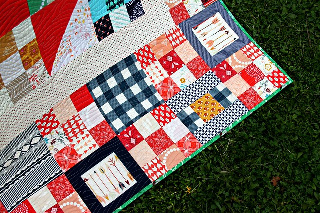 Natalie's Wild & Free Quilt -- Red Nine Patches