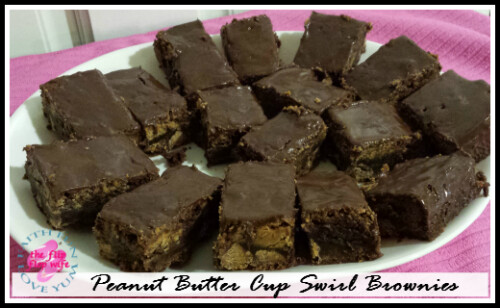Peanut Butter Cup Swirl Brownies