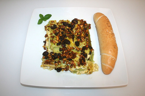 43 - Raisin leeks with cashew nuts & cranbeeries - Served / Rosinenlauch mit Cashewnüssen & Cranberries - Serviert