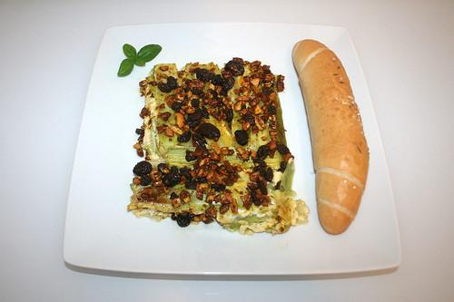 43 - Raisin leeks with cashew nuts & cranbeeries - Served / Rosinenlauch mit Cashewnüssen & Cranberries - Serviert