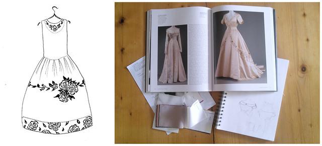 Croquis et recherches pour des robes de mariée - Grenoble
