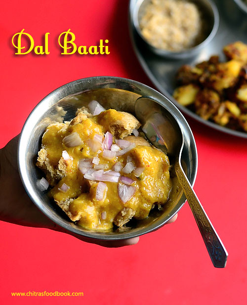 Dal Baati Recipe Rajasthani Dal Bati Recipe Chitra S