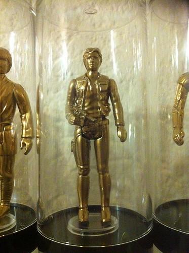 Vintage Star Wars Action Figures 24KT Gold Edition Han Solo