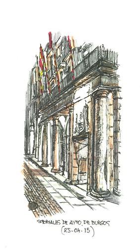 Burgos. Fachada del Ayuntamiento