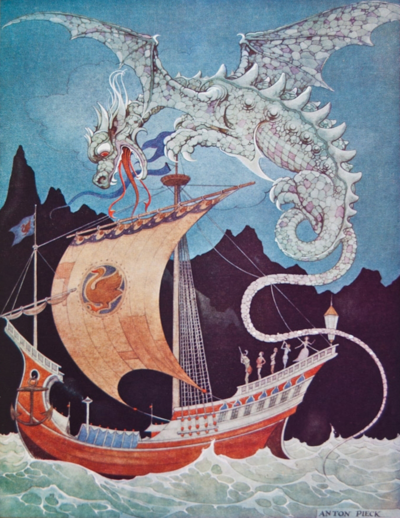 Anton Pieck - Dragon