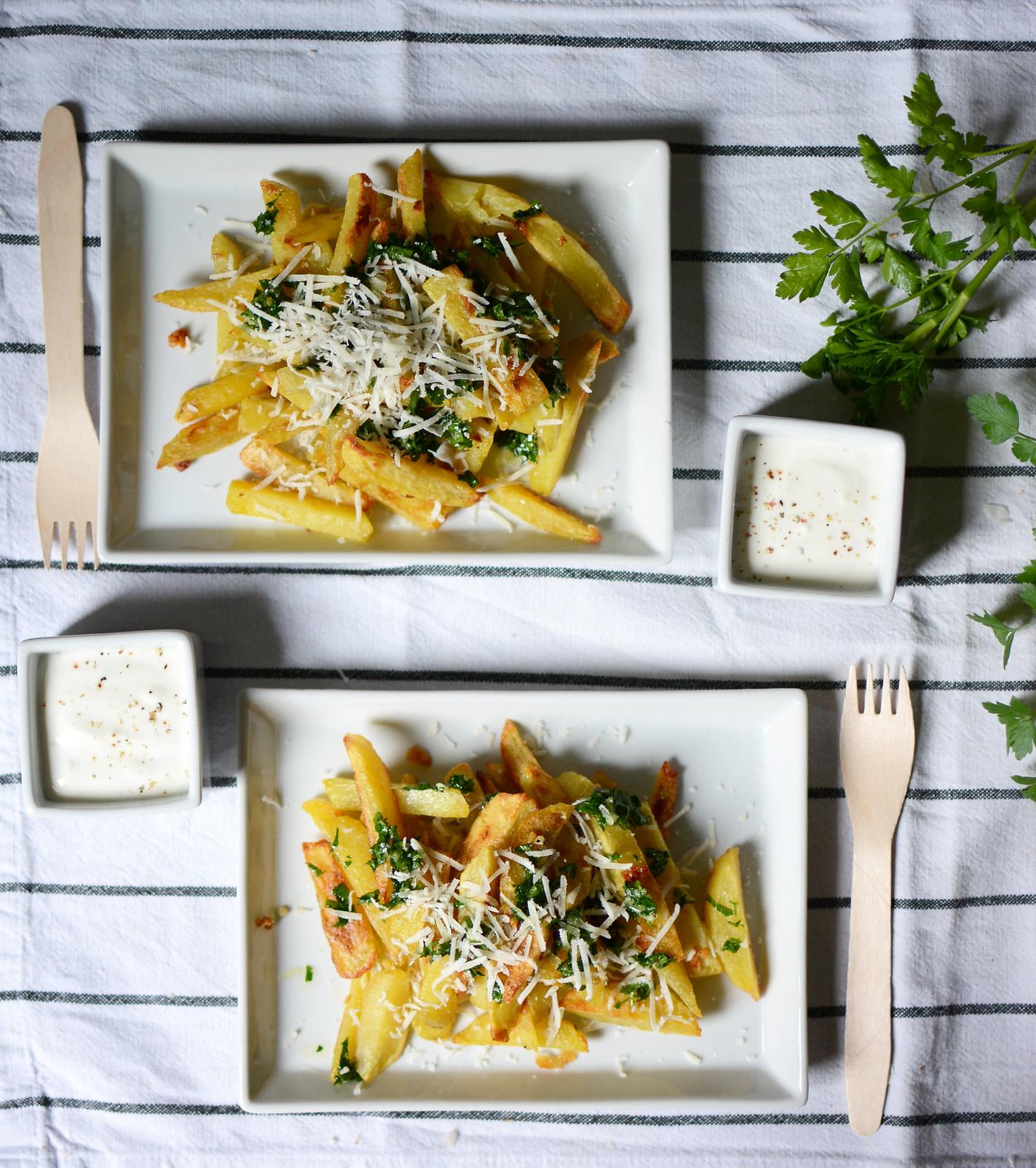 Knoblauch-Parmesan-Pommes