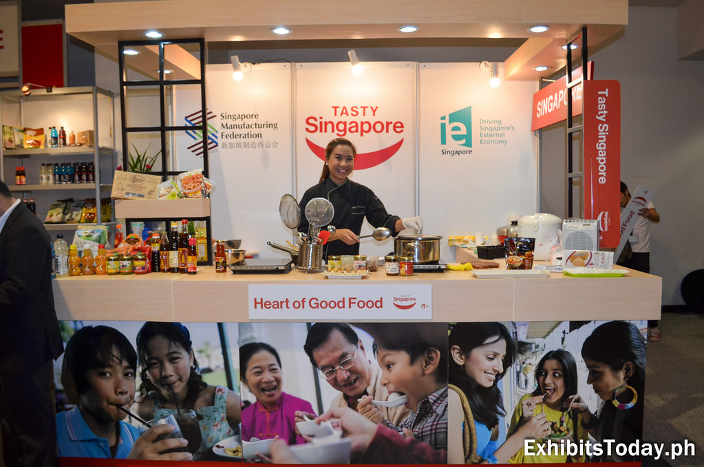 Chef Mich at the Tasty Singapore Exhibit Stand