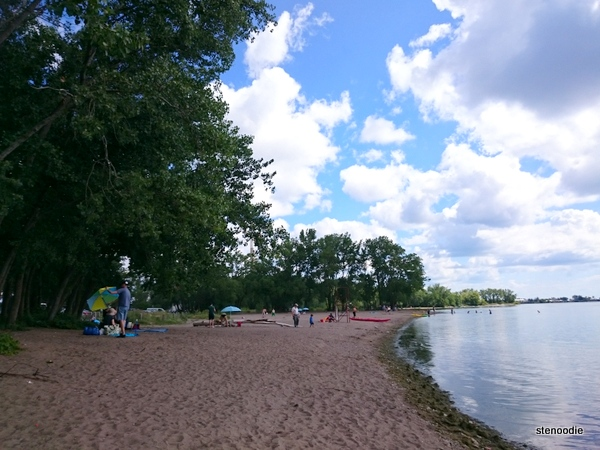 Cherry Beach shoreline In Toronto