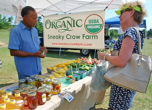 Customers at Sneaky Crow Farm
