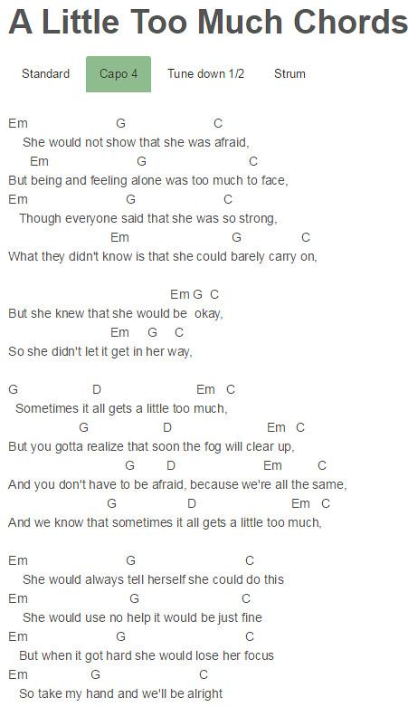Capo 4 A Little Too Much Chords Shawn Mendes Capo 4 A Litt Flickr