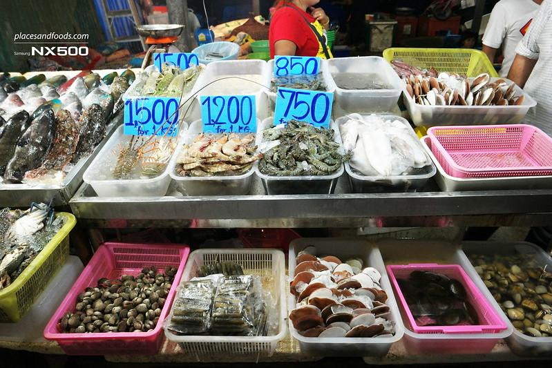rawai fish seafood market stall