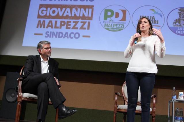 Il ministro Maria Elena Boschi a Faenza per sostenere Giovanni Malpezzi Sindaco