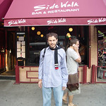 Adam Fieled outside Sidewalk Cafe, Avenue A, East Village, 2007