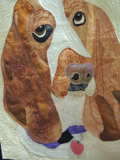 My Three Bassets by Shari Schmitt - Detail