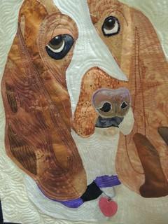 My Three Bassets by Shari Schmitt - Detail