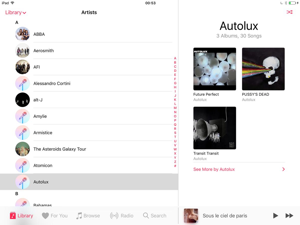Music on the iPad